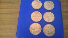 British medio centavo 6 en total los 1967 Con Lustre