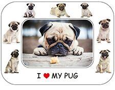 "Pug Dog Gift - Beautiful Flexible Magnetic Photo Frame  8"" x 6"""