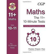 3 CGP 11+ MATHS VERBAL NON VERBAL REASONING 10 MINUTE TESTS CEM AGE 10-11 YEAR 6