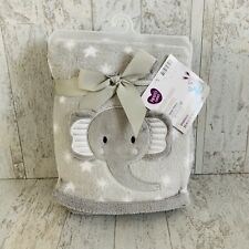 NWT Parent's Choice Elephant Blanket Gray With White Stars Grey