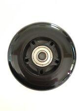 MINI MICRO SCOOTER RICAMBIO SOLID BLACK RUOTA POSTERIORE-include CUSCINETTI - 80mm