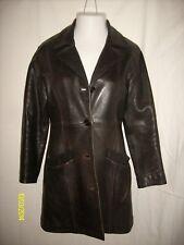 1960/70's Men's Vintage American Base Leather Trench 3/4 Coat Sz (Med)