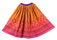 Lang Vintage Indian Zigeuner Banjara Hippie Rock Kuchi Orange Verzierte Schalen