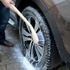 "Car Tire Wheel Wash Detail Brush 20"" Long Curve Handle 2""Soft Bristle, Grey"