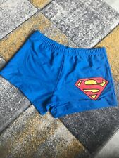 NEW Men's Superman blue swimming trunks comedy holiday - size M
