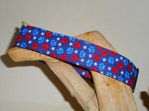 Paws And Stars Custom Made Martingale Dog Collar - 2 Inch, 1 1/2 Inch, 1 Inch
