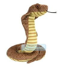 "Wild Republic Cuddlekins 12"" Posed Cobra Plush Animal Stuffed Toy for Kids"