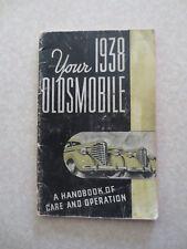 Original 1938 Oldsmobile automobile owner's manual