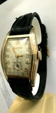 montre BULOVA  CURVEX Circa1940 vintage watch mecanic gold filled