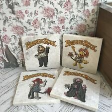 Jim Henson Fraggle Rock Cult Classic Marble Coasters Labyrinth Muppets