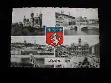 France Vintage Postcard from Lyon, postmarked 1952 with stamps