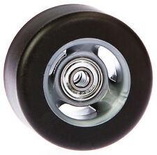 70mm x 40mm Rubber on Nylon Wheel with 8mm bearings, Set of 4
