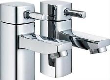 Pair Of Hot & Cold Chrome Bathroom Basin Sink Pillar Taps  ICE 2