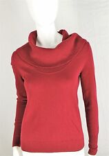 Halogen Sweater 100% Cashmere Red Small Luxury Soft Comfort S