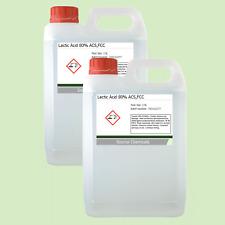 Lactic Acid 80% 2 x 2.5 Litre (5L) Food Grade Acne/Facial/Home Brew