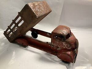 Antique Toy Truck 1930s Pressed Steel Dump Truck Large