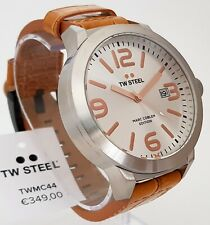 TW Steel Uhr Armbanduhr Herrenuhr XXL Ø 50 mm Lederband braun Kroko-Optik NEU 16