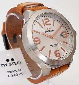 TW Steel Uhr Herrenuhr XXL Big Ø 50 Lederband braun Kroko-Optik NEU ohne Box! 16