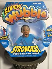 Super Wubble Bubble Ball with Pump - Boing Blue 80897 With Batteries