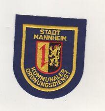 Original Aufnäher Patches Mannheim Kommunaler Ordnungsdienst Ordnungsamt
