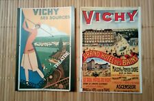 2 cartes postales Vichy reproductions anciennes tourisme