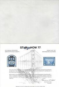 UNITED STATES - STAMPSHOW '77 PHILATELIC EXHIBITION SOUVENIR CARD & ENVELOPPE
