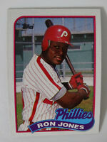 1989 Topps Ron Jones Philadelphia Phillies Wrong Back Error Baseball Card