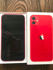 Apple IPHONE 11 64 gb RED unlocked with box