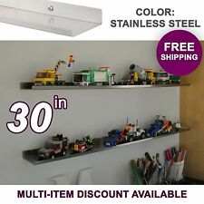 "30"" ultraLEDGE Stainless Steel LEGO Display / Shelf / Ledge"