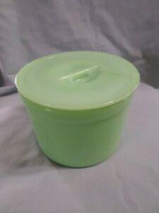 Vintage Jadeite Jeannette Jadite Glass Round Crock Tub Leftover