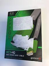 Gioteck xc3-hq HDMI Cavo PS3 PC Xbox360 Wii U PC * PLACCATO ORO 1,8 M nuova casella diga