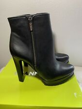 "GIANNI BINI ""SHEENAN"" BLACK ANKLE BOOTS SHOES SIZE 9.5M"