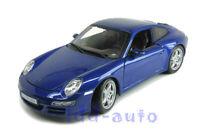 MAISTO PORSCHE 911 997 CARRERA S 1/18 DIECAST MODEL CAR BLUE 31692