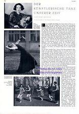 Mary Wigman DANZA SCUOLA Dresda XL relazione 1931 espressione Ballo Danza Ballerina -