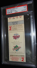 1991 WORLD SERIES GAME 2 TICKET MINNESOTA TWINS  CHAMPIONS PSA MINT 9 RARE!