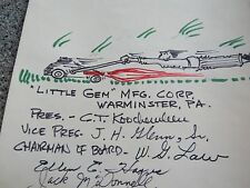 VINTAGE MARTIN BAKER EJECTION SEAT SCROLL ROCKET POWERED LAWNMOWERS