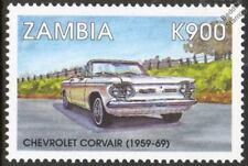 1959-1969 CHEVROLET CORVAIR Mint Automobile Car Stamp (1998 Zambia)