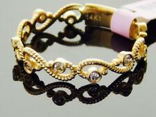 14K YELLOW GOLD INFINITY DESIGN DIAMOND  ETERNITY STACKABLE WEDDING BAND RING