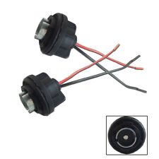 (2) 1156 7506 P21W Turn Signal Light Socket Harness For LED/Incandescent Bulbs