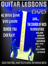 Beginner Electric Guitar Video DVD Rock Chords & Songs up the Guitar neck