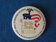Vintage Badge - United States Constitution Bicentennial - 1991
