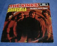 "THE KINKS (7"" SINGLE / 45) SHANGRILA [PYE 1969 PS *BEAT **GERMAN 1ST PRESS] EX"