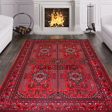 Small-XLarge Afghani Style Khorasan Bokhara Traditional Rug Persian Style Rugs