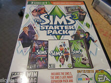 The Sims 3 Starter Pack WIN MAC REPLACEMENT DISCs