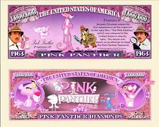 OUR PINK PANTHER CARTOON DOLLAR BILL (FREE HARD DURABLE PROTECTIVE SLEEVE)