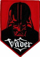 "STAR WARS ""VADER"" DARTH VADER RED EMBROIDERED PATCH 2 1/2""X 3 1/2"""