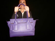 $448 Kate Spade PURPLE LARGE SOUTHPORT AVENUE ODEN AFRICAN VIOLET LEATHER TOTE