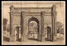 STAMPA ORIGINALE 1750 ROMA ARCO SETTIMIO SEVERO