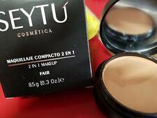 MAQUILLAJE COMPACTO( SEYTU) 2 in 1 (FAIR)) POLVO,para tono de  piel aperlada
