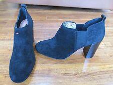 NEW Ellen Degeneres ED Mahoney Ankle Boots WOMENS 9.5 Black SUEDE Booties $129.